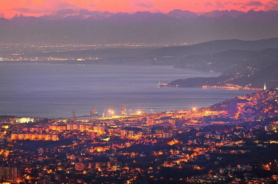 Tramonto a Trieste